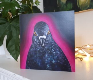 Disco Pigeon Greetings Card